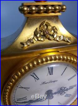 Pendulette Hour Lavigne style Louis XVI Bronze Doré Ormolu Clock