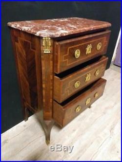 Petite Commode En Marqueterie De Style Louis XVI