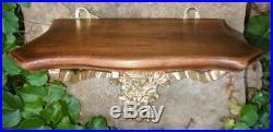 Petite Sellette d'Applique style Louis XVI Bronze & Bois