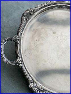 Plateau Plat De Service Metal Argente Orfèvrerie Gallia Style Louis XVI