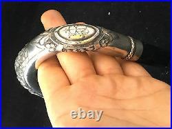 Pommeau Canne Style Louis XVI Argent Knob of cane Antique Silver Monogramé JR