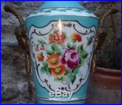 Porcelaine Vieux-Paris Vase monture Bronze style Louis XVI