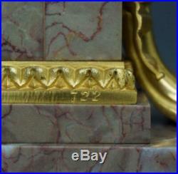 Raingo Freres Pendule Borne Style Louis XVI Marbre Bronze Napoléon III