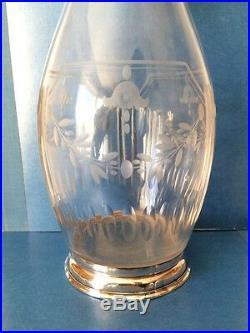 SERVICE Carafe et 6 verres style LOUIS XVI en Cristal et Argent Massif