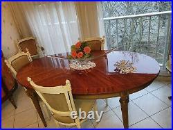 Salle à manger style Louis XVI en marqueterie bois de rose