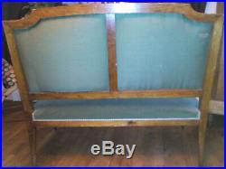 Salon ancien style Louis XVI banquette fauteuils chaises