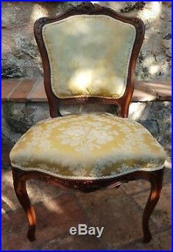Salon style Louis XVI 1 canapé + 1 fauteuil +3 chaises