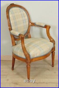 Salon style Louis XVI canapé paire de fauteuils