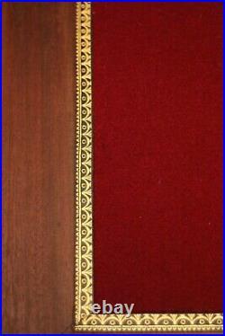 Secrétaire 19e faux chiffonnier en trompe l'oeil acajou massif style Louis XVI