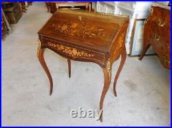 Secretaire De Dame Marquete Style Louis XVI