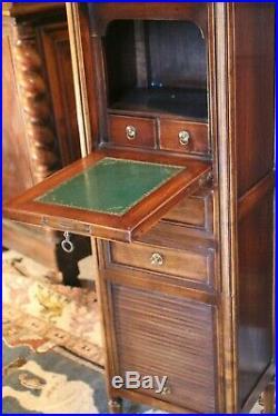 Secrétaire en guillotine en hêtre massif de style Louis 16