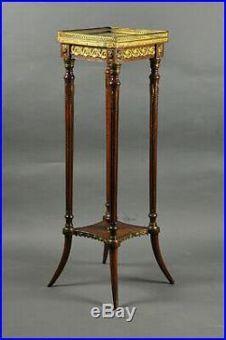 Sellette de style Louis XVI en acajou et bronze doré