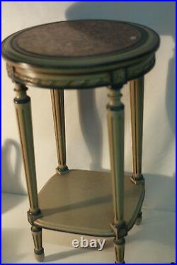 Sellette ronde style Louis XVI bois peint