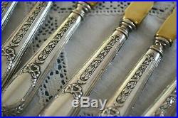 Service couteaux fourchettes à melon argent style louis XVI