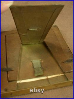 Superbe Cadre Porte Photo Ancien En Metal Doré Style Louis XVI