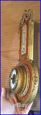 Superbe ancien baromètre à mercure Style LOUIS XVI 1900 XIXe 19TH Bronze doré