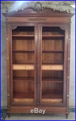 Superbe bibliothèque style Louis XVI