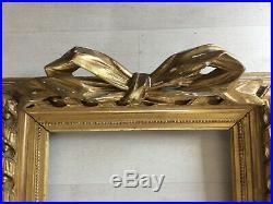 Superbe cadre doré à clefs 6F style Louis XVI pour tableau peinture 41x33cm