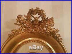 Superbe cadre style Louis XVI Napoléon III XIX ème s, dorure à la feuille d'or