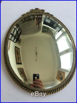Superbe et ancien miroir de sorcière style Louis XVI en laiton