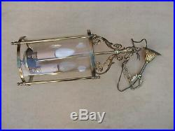 Superbe et importante lanterne de style Louis XVI en état de marche