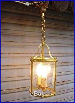 Superbe lanterne en bronze de style Louis XVI en état de marche