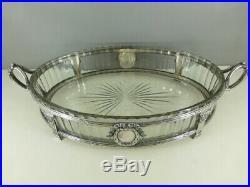 Surtout centre de table métal argenté style louis XVI