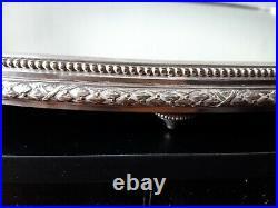 Surtout plateau centre de table miroir et metal argenté style Louis XVI 62 cm