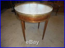 Table Bouillote Plateau Marbre Style Louis XVI
