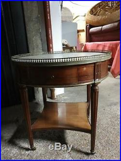 Table Bouillotte style Louis XVI en Acajou massif
