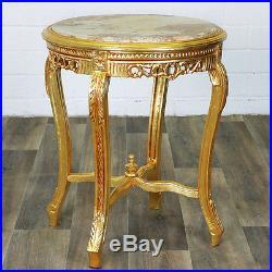 Table Gueridon En Bois Hetre Dore Style Louis XV Baroque Rococo Marbre