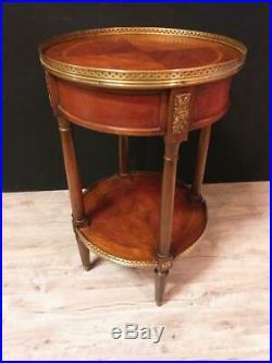 Table Gueridon Style Louis XVI En Marqueterie