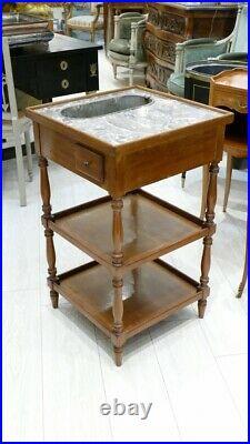 Table Rafraîchissoir Ou Jardinière De Style Louis XVI En Acajou Et Zinc, époque