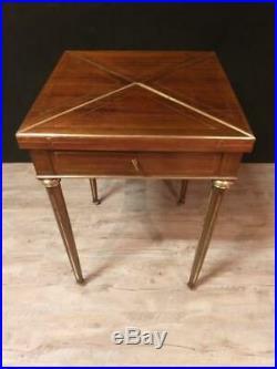 Table à Jeux Mouchoir Style Louis XVI