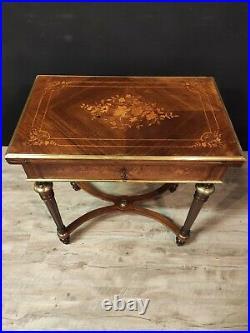 Table à Jeux Style Louis XVI En Marqueterie