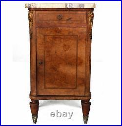 Table de chevet de style Louis XVI bronzes dorés XIXème