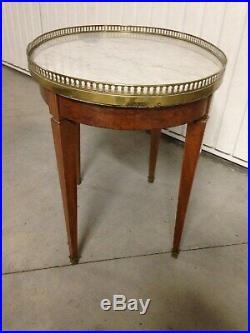 Table guéridon bouillotte style Louis XVI