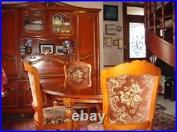 Table salle à manger style Louis XVI merisier