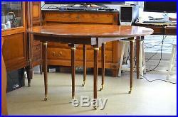 Table style Louis XVI à volets en merisier massif 19è