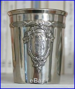 Timbale En Argent Massif De Style Louis XVI, Orfèvre Ernest Pot 1904/1908