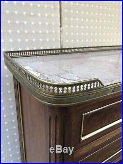 Très Beau Bibus Étagère 2 Tiroirs Dessus Marbre Style Louis XVI