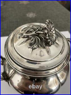 Tres Joli Sucrier En Argent Massif Minerve 19 Eme Style Louis XVI