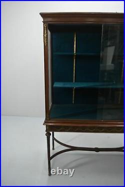 Vitrine d'exposition époque 1900 de style Louis XVI