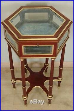 Vitrine style Louis XVI acajou Napoléon III